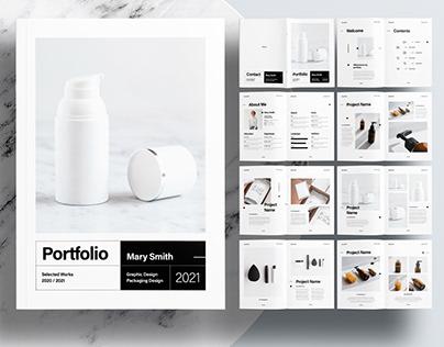 InDesign Template - Editorial Modern Portfolio Layout