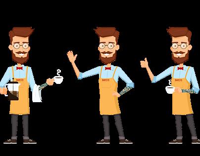 Coffeeman character design set