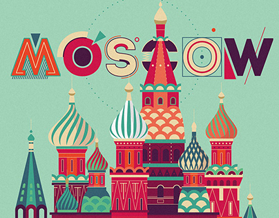 """Commercial graphic illustration """"MOSCOW"""""""