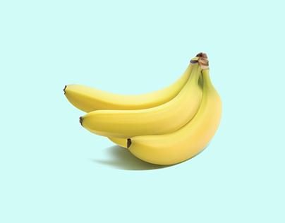 Banana Gradient Mesh Illustration