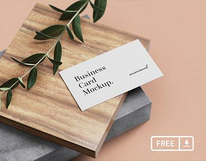 Minimal Business Card Mockups (Free PSD)