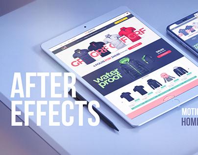 After Effects Website Presentation - Usegiraffe