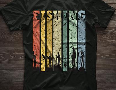 Fishing T-shirt Design