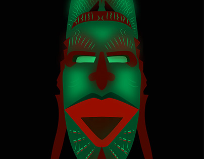 African face mask illustration