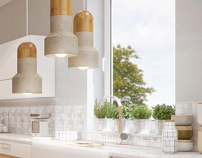 Livingroom & Kitchen CGI