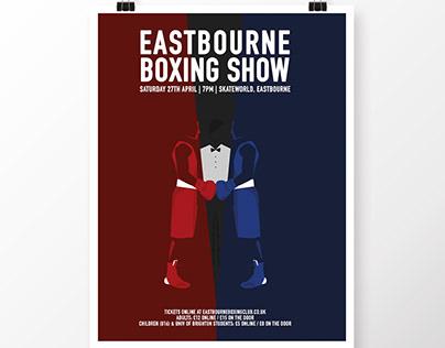 Eastbourne Boxing Show poster - illustration C. Obligis