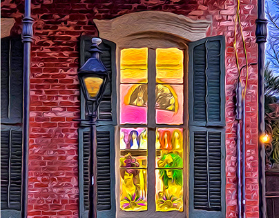 THE FRENCH QTR, N ORLEANS - ARCHITECTURE & STREET SCENE