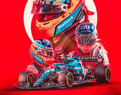 Fernando Alonso Turkish GP Poster