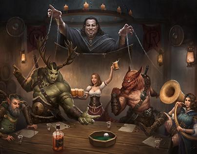 D&D Tavern Illustration