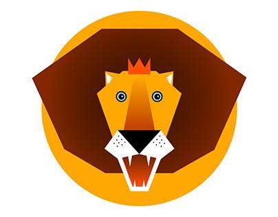 Fabric Pattern Lion, Cat & Fox