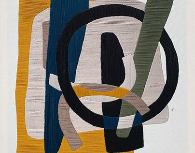 thread on canvas