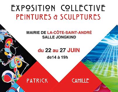 Exposition Collective à La Côte Saint André. Juin 2018