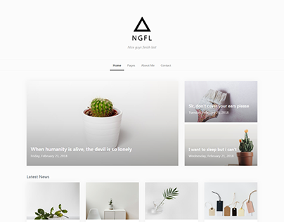 NGFL - Bootstrap 4 Template