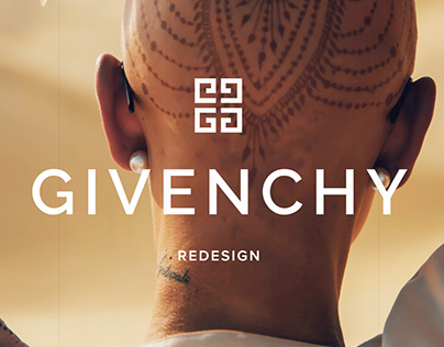 Givenchy. Web page redesign