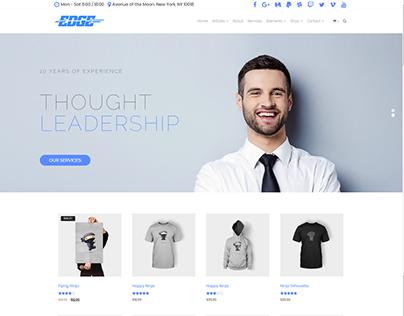 Shop Wide Page - Edge WordPress theme