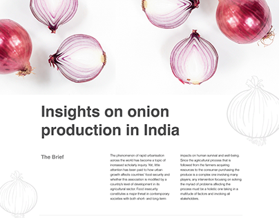 Research on Onion Production in India