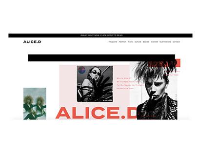 Alice.D Magazine Website