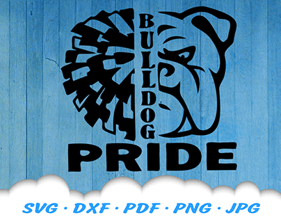 Bulldog Pride Team Mascot SVG Cut Files