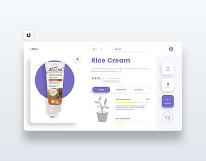 🥬 Rice Cream Web Design