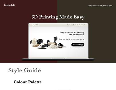 Beyond 2D - Marketing Website Presentation