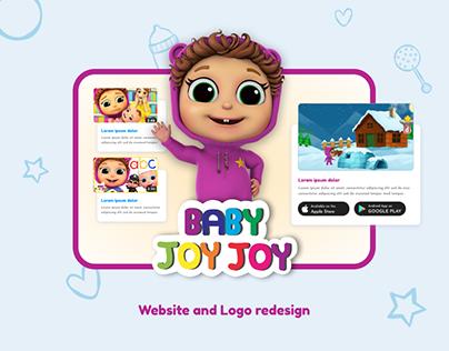Baby Joy Joy   Website redesign   Logo refresh