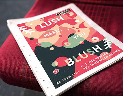 Lush Illustrative Advertising Campaign