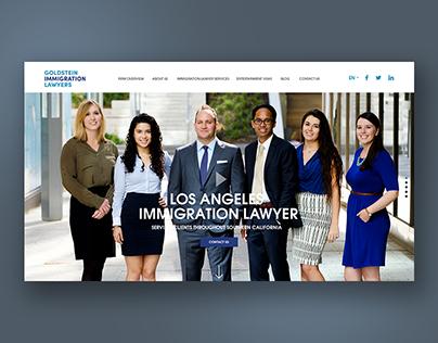 Website design for immigration lawyer