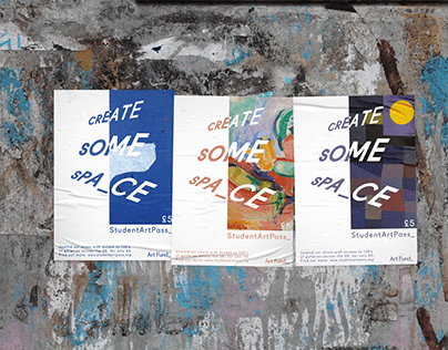 'Create Some space' - YCN: Art Fund_ poster project