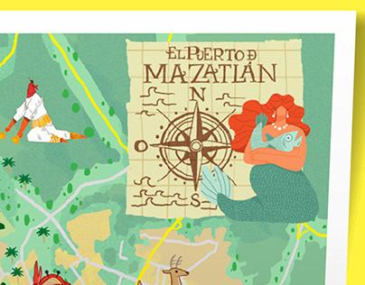 Mapa de El Puerto de Mazatlán