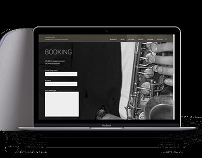 Responsive website of Tamás Gyurcsó