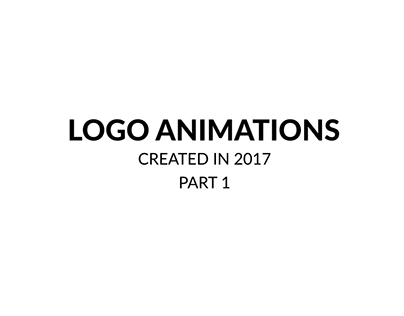 LOGO ANIMATIONS '17 PART 1