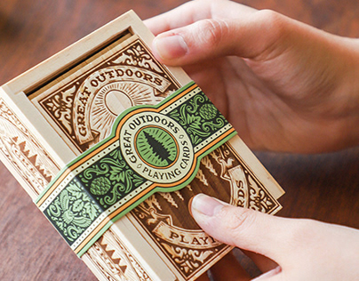 Chronicle Books Great Outdoors Card Deck & Notebook Set