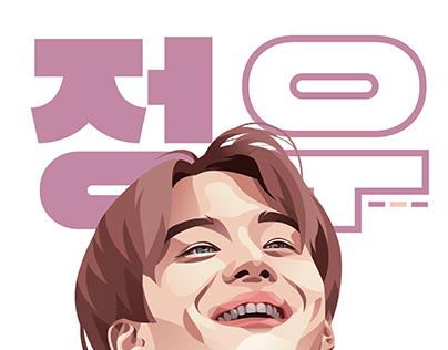 Jungwoo Vector Portrait Illustration
