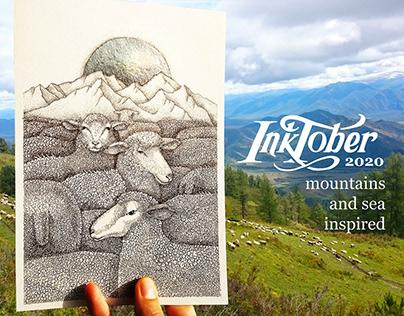 Pen and ink illustrations by Anastasia Sikilinda