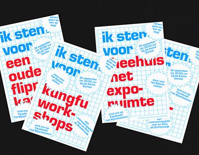 Ontwerp wijkkrant en campagne posters voor de VIPbus