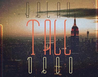 Belau Tall Deco Font