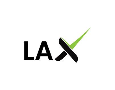 LAX-X letter mark logo