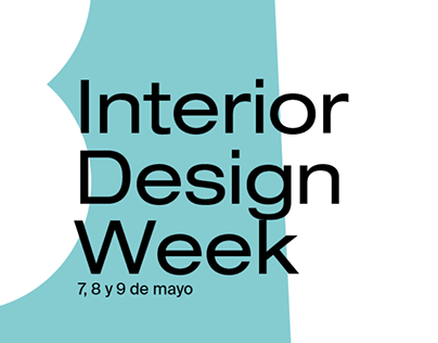 Cartelería de Interior Design Week Barreira 2019