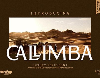 CALLIMBA - Luxury Serif Font