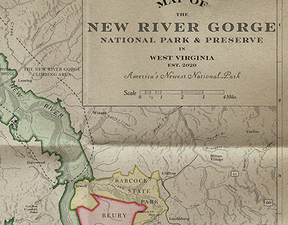 Map: Victorian / Old West Design National Park