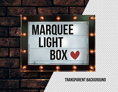 Free Marquee Cinema Light Box Typography/ Poster Mockup