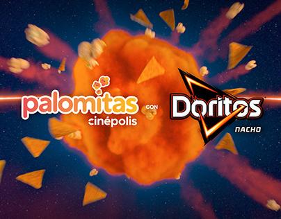 Palomitas Cinépolis con Doritos Nacho