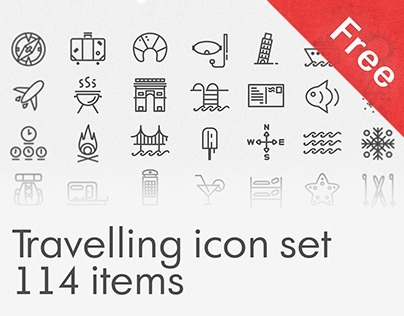 Free Travelling icon set