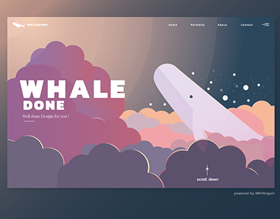 WHALE DONE (DailyUI:Day3)
