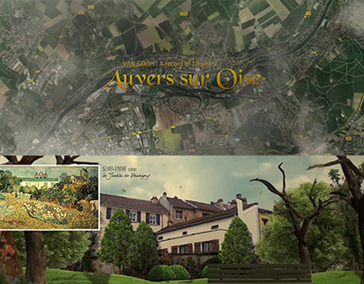 Auvers sur Oise Digital Exhibition Motiongraphics
