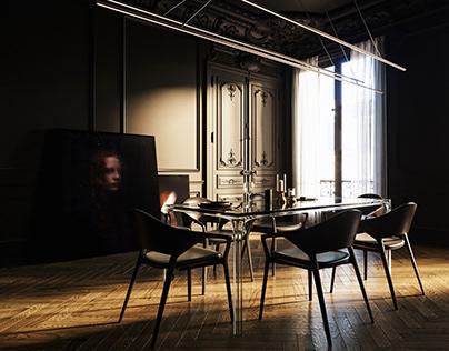Black.2|Dinner Room Design|
