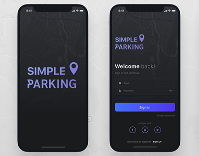 Simple parking. Concept iOS app.