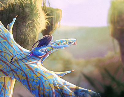 Ikran makto - Na'vi riding a banshee