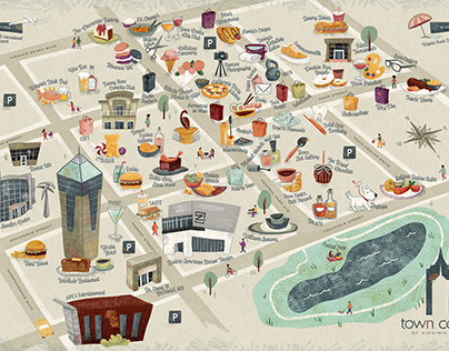 Town Center Virginia Beach | Illustrated Map