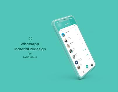 Whatsapp Material redesign!